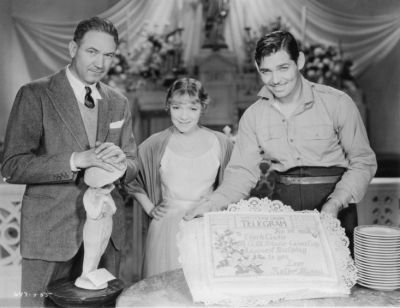 Victor Fleming and Helen Hayes help celebrate his 32nd birthday