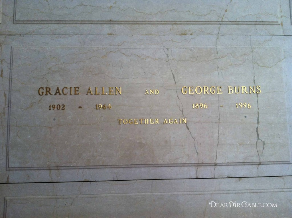 Forest Lawn Glendale Gracie Allen and George Burns