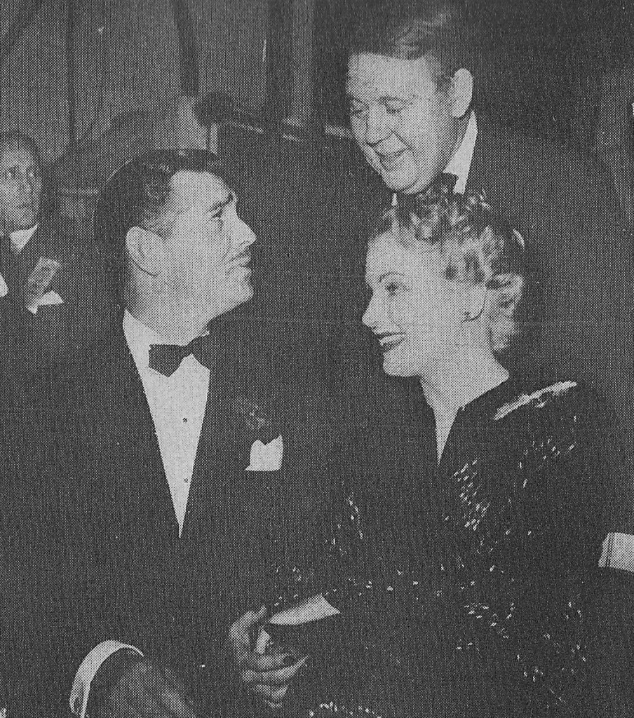Clark Gable, Carole Lombard and Charles Laughton