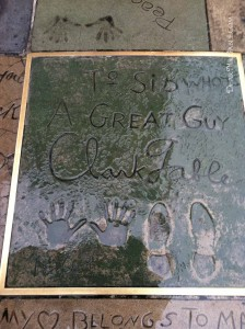 Clark Gable Grauman's Chinese Theater