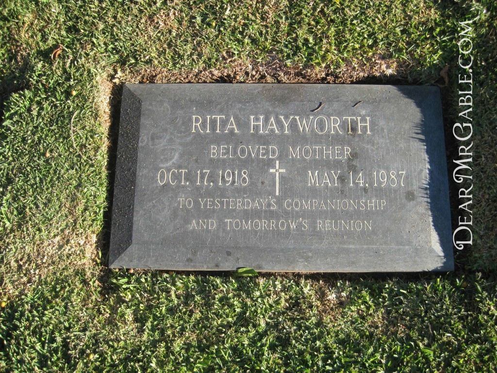Holy Cross Cemetery Rita Hayworth