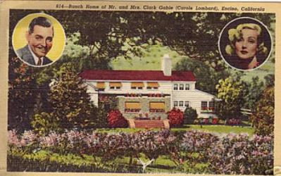 Clark Gable and Carole Lombard's home