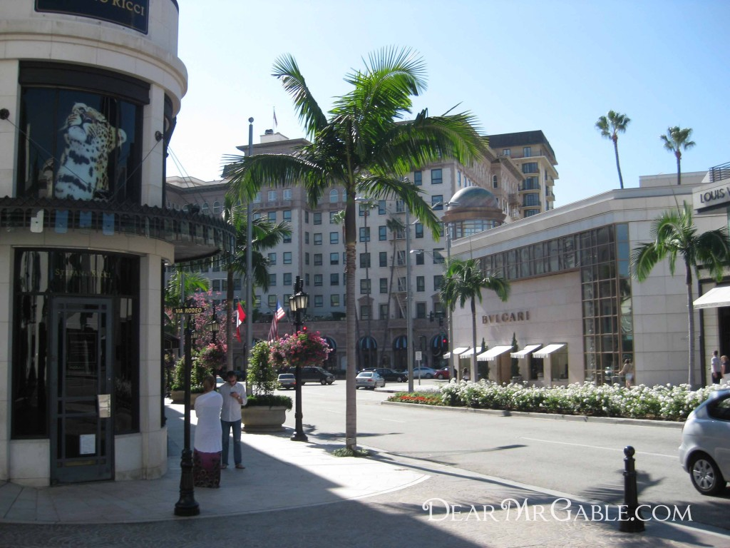Beverly Wilshire at the end of Rodeo Dr.