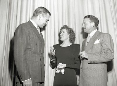 Clark Gable, Gracie Allen and George Burns