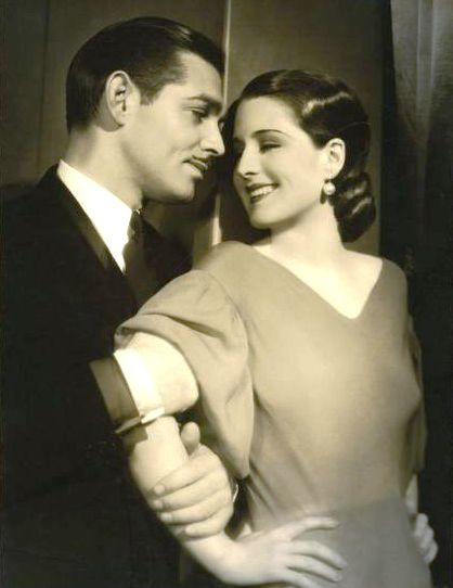 Clark Gable and Norma Shearer