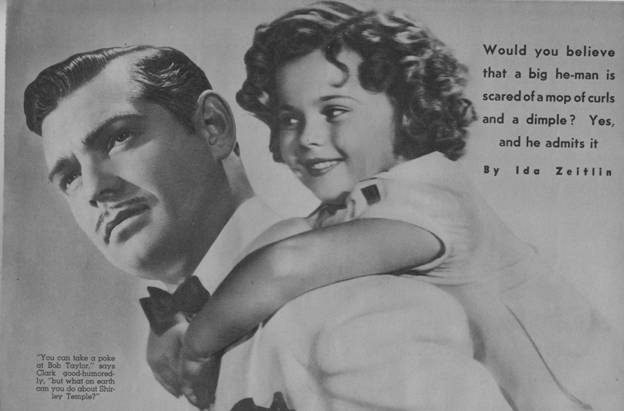 Image result for shirley temple and gable
