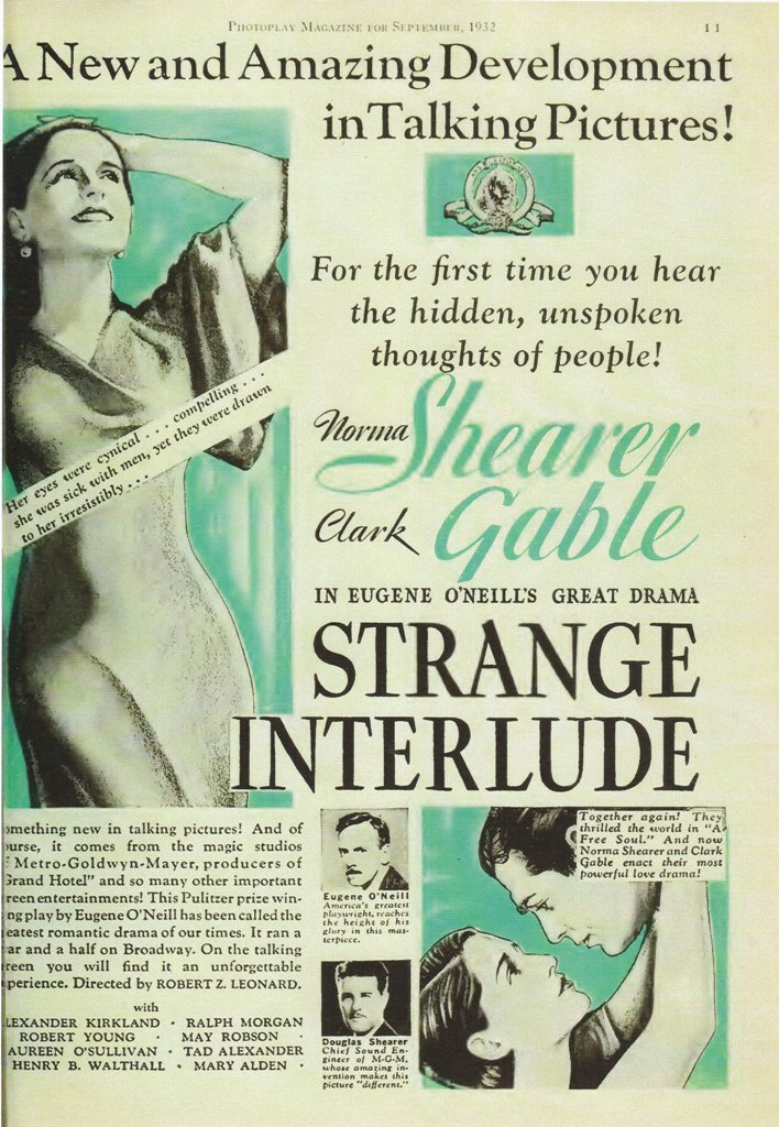 norma shearer clark gable strange interlude