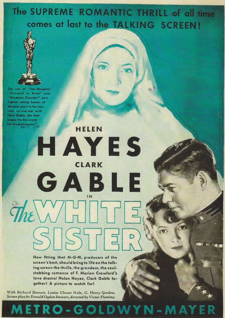 clark gable helen hayes the white sister