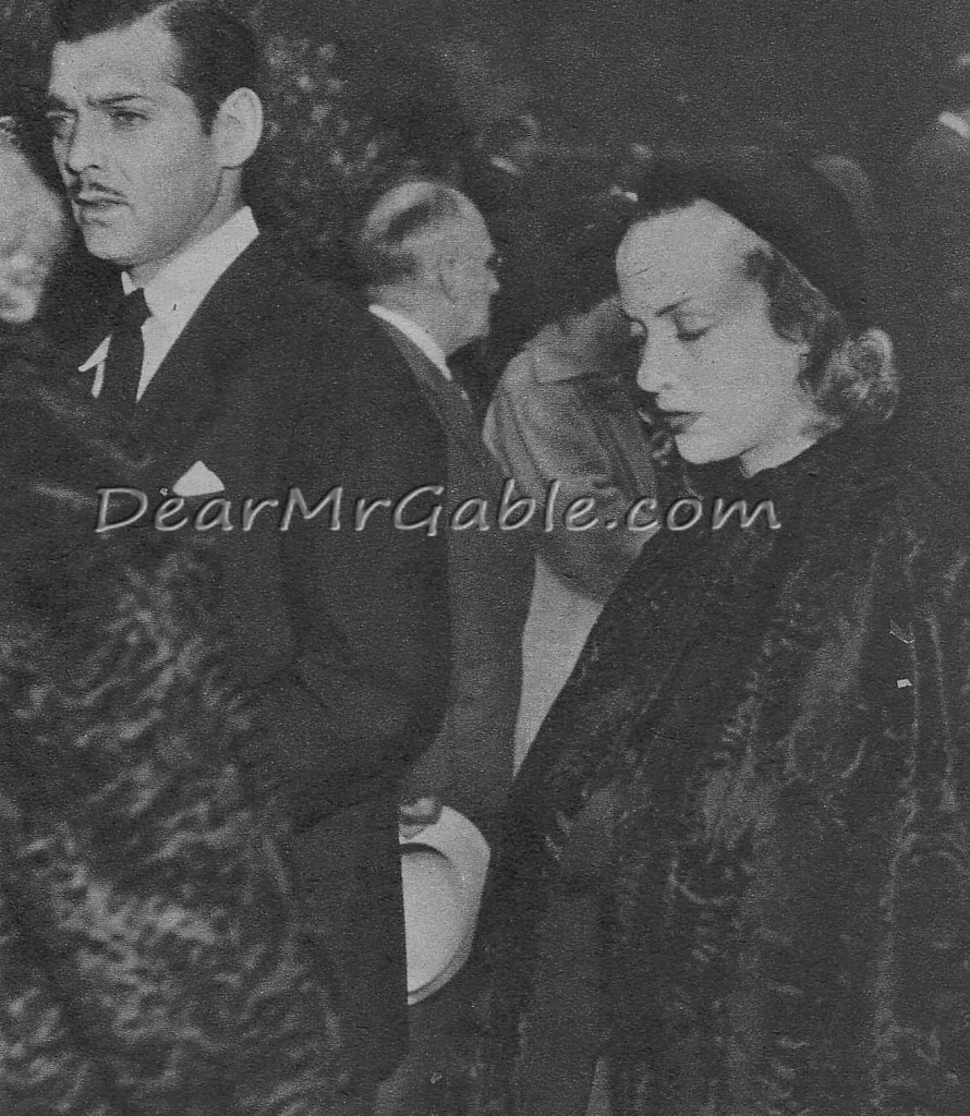Clark Gable and Carole Lombard attending Jean Harlow's funeral