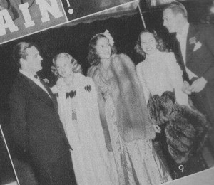 Earl of Warwick, Simone Simon, Jinx Falkenberg, Merle Oberon and Douglas Fairbanks Jr.
