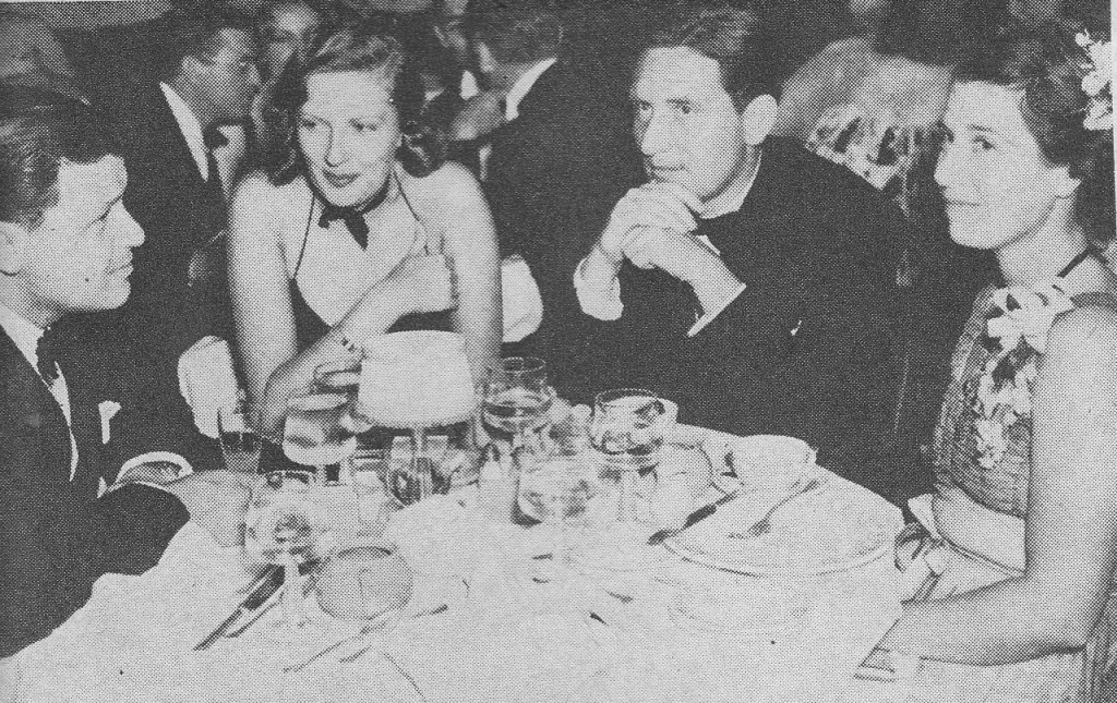 Producer Joe Mankiewicz, Viennese star Rose Stradner, Spencer Tracy and his wife