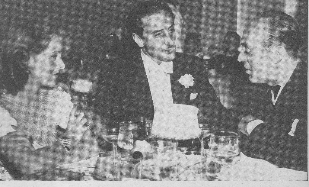 Pat Paterson (Mrs. Boyer), Basil Rathbone and Charles Boyer