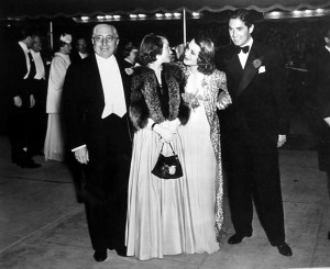 Louis B. Mayer, Helen Hayes, Norma Shearer and Tyrone Power