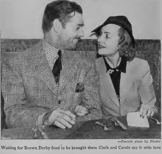 clark gable carole lombard brown derby