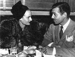 Carole Lombard and Clark Gable at the Brown Derby