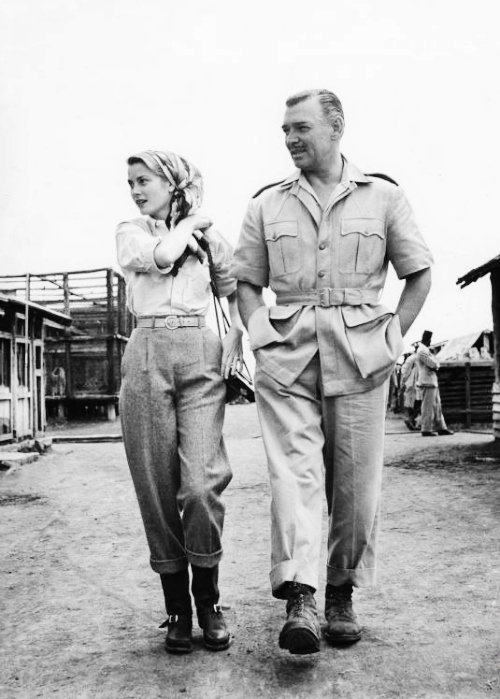 grace kelly clark gable mogambo