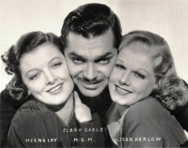 myrna loy clark gable jean harlow wife vs. secretary