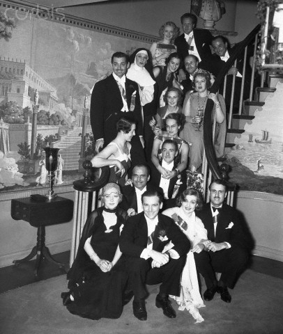 At a party on February 24, 1936, Clark and Carole amongst stars--but not standing together