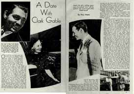 a date with clark gable 1937