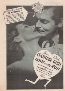 clark gable joan crawford love on the run