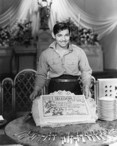 clark gable birthday cake