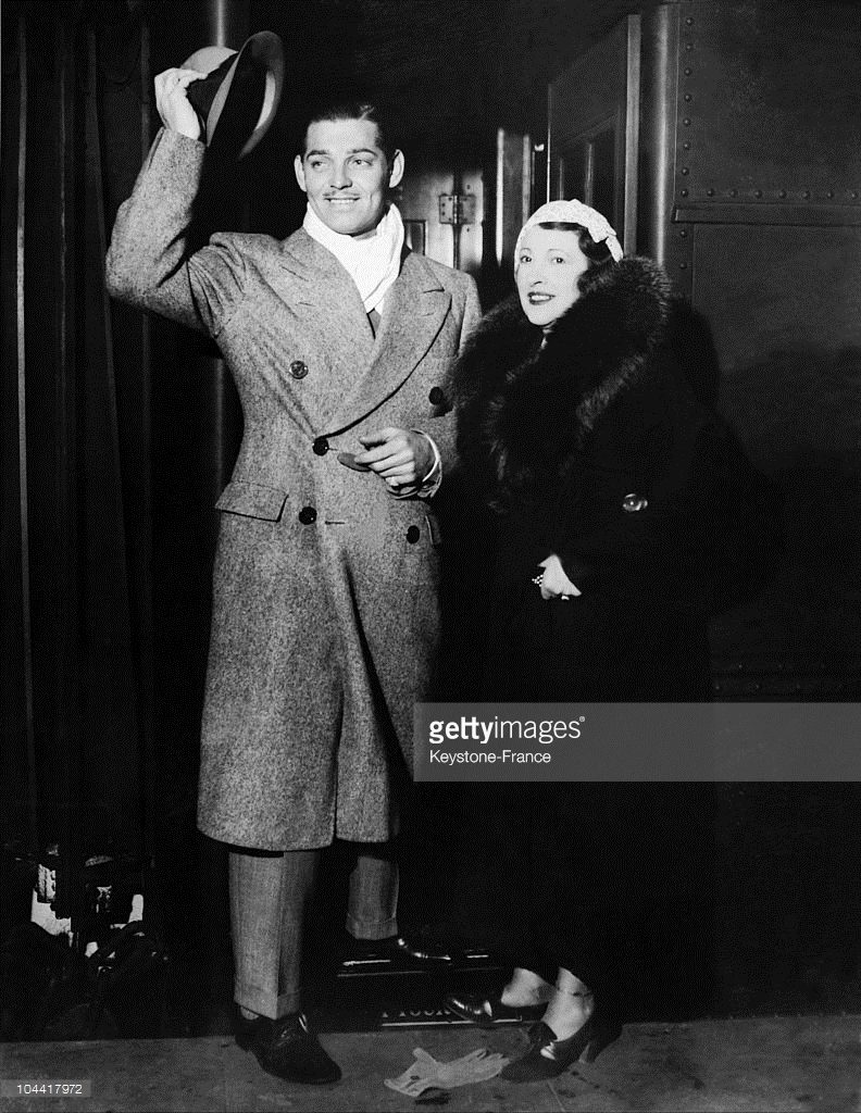 Clark and second wife Ria arriving in New York  in 1934