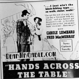 carole lombard fred macmurray hands across the table