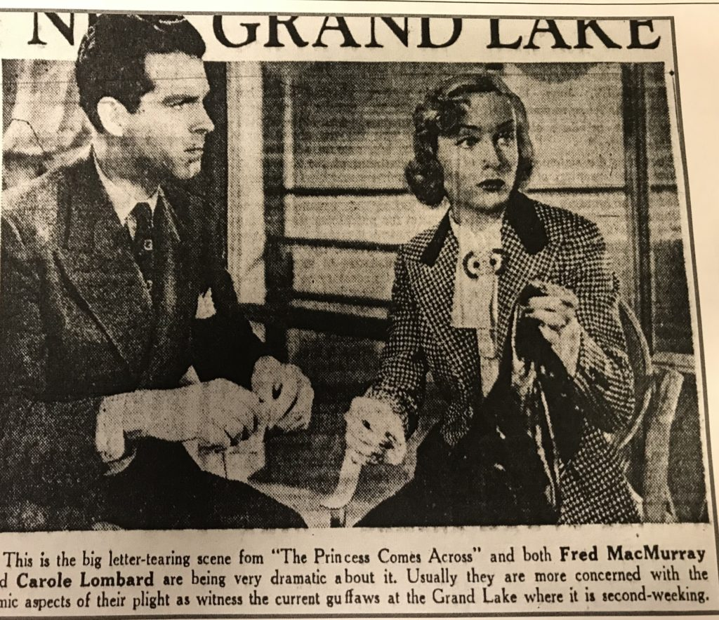 carole lombard fred macmurray princess comes across