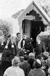 Clark Gable's funeral. Kay in black veil.