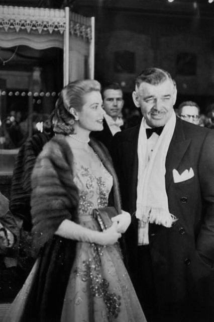 Grace Kelly and Clark Gable at the 1954 Academy Awards
