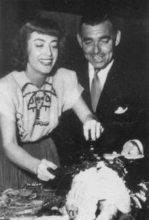 Joan Crawford and Clark Gable in the 1950's