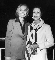 Judy Lewis and Loretta Young in 1978